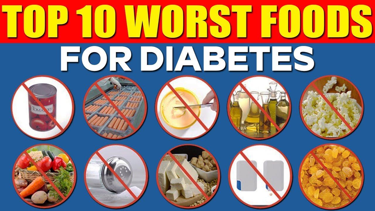 Top 10 Worst Foods For Diabetes || Prevent Diabetes